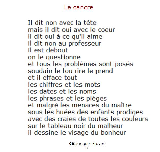 Le Cancre